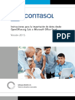 ContaSOL Importacion Excel Calc