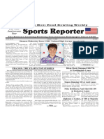 January 8 - 14, 2020  Sports Reporter