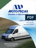 Moto Peças Catalogo Cambio e Diferencia Linha Leve 2017