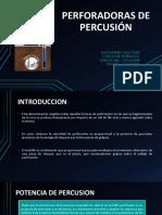 PERFORADORAS DE PERCUSIÓN