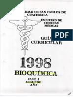 Programa del Area de Bioquimica- Segundo Año 1998