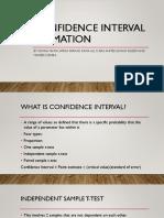 CONFIDENCE INTERVAL estimation