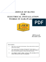 SCHEDULE OF RATES FOR ELECTRICAL INSTALLATION WORKS IN SARAWAK 2018