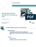 Becoming Market Driven in the Digital Era