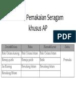 Jadwal Pemakaian Seragam khusus AP.docx