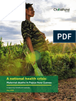 ChildFund report_A national health crisis-maternal deaths in Papua New Guinea