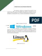 Tipos de Formatos de los Sistemas Operativos