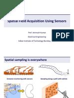 spatial field aquisition using field sensors