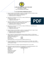 Practice Set 2  (Cost Segregation and CVP)
