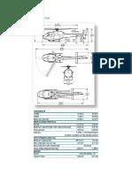 Especificaciones técnicas Helicóptero  (Aerodinámica)