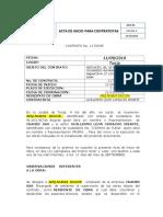 ACTA DE INICIO PARA CONTRATISTAS