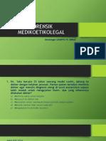 Latihan UKMPPD FORENSIK MEDIKOLEGAL dan Etik