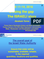 2016 10 Israel Closing the Gap Tenne Lecture