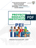 PROYECTO EDUCATIVO INSTITUCIONAL PROVINCIA DE MANABI 2019