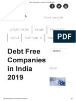 Debt Free Companies in India 2019 - GETMONEYRICH.pdf