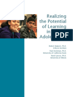 Realizing the Poential of Learning in Middle Adolescence