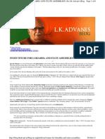 LK Advani's blog