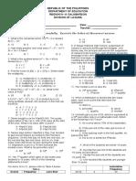 Diagnostic Test grade 10
