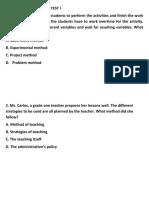 PRINCIPLES OF TEACHING TEST 3