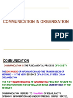 Communication for distribution