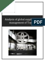 SCM REPORT on TOYOTA