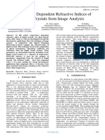 Temperature Dependent Refractive Indices of Liquid Crystals from Image Analysis