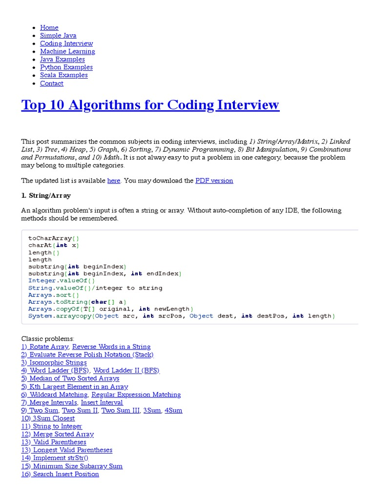 array programs in java for interview