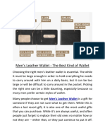 Men's Leather Wallet - The Best Kind of Wallet