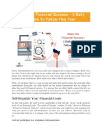 Seize the Financial Success – 5 Daily Rituals to Follow This Year - Sagenext