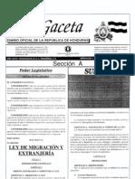 Decreto 208-2003 Immigration Law