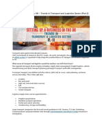 Transport and Logistics Industry developments in the UK.