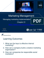 9. Managing marketing implementation and control