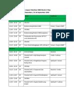 Jadwal Persiapan Pelatihan MBS