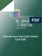 Manual para Inscrições EJA Online 1502