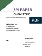Term Paper Column Chromatography