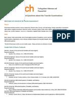 Transfer Exams FAQ 2015