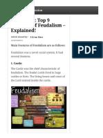 feudalism characteristics