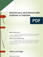 Democracy and Democratic Institutions