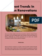 Current Trends in Kitchen Renovations