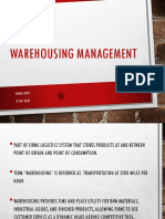 WAREHOUSING MANAGEMENT RInkal.ppt