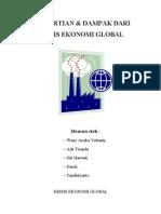 Makalah Krisis Ekonomi Global