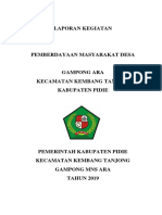PEMBERDAYAAN MASYARAKAT DESA GAMPONG ARA KEC. KEMBANG TANJONG KAB. PIDIE  THN 2019.docx