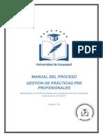Manual de Procesos y Procedimientos de Gestión de Prácticas UG