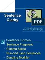 WRIT104 Sentence Clarity New