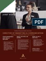 Job Advertisement - Director of Marketing & Communication