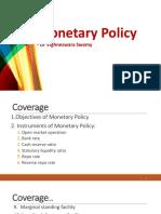 21. Monetary Policy