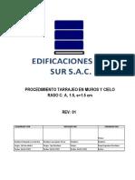 EDS-PT-021_PROCEDIMIENTOS  DE TRABAJO TARRAJEO EN MUROS Y CIELO RASO.rev1 CSL 07.01.2020
