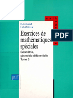 Bernard Gostiaux - Exercices de mathématiques spéciales, tome 3 _ Géométrie, géométrie différentielle. 3-Presses Universitaires de France - PUF (1997).pdf