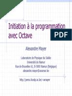 Cours d'Octave