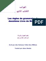 Niveau 2 Les Regles de Grammaire 2